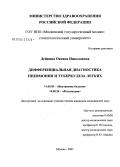 Кавернозный и фиброзно-кавернозный туберкулез легких - дифференциальная диагностика