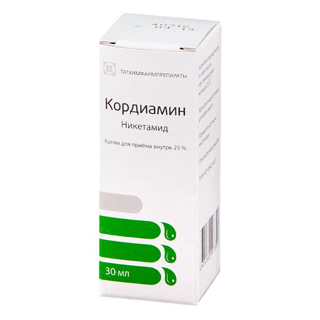 Раствор и капли кордиамин: инструкция по применению