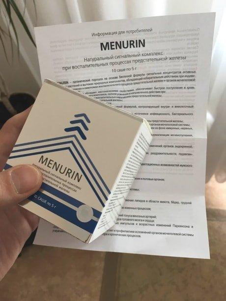 Насколько эффективен менурин от простатита?