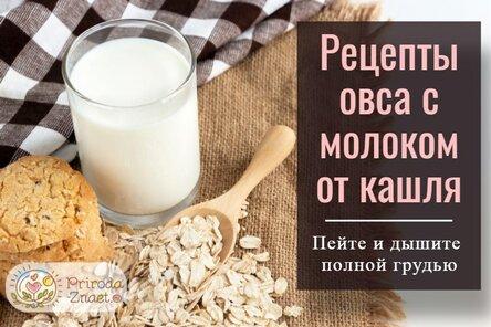 Как делать отвар из овса на молоке от кашля