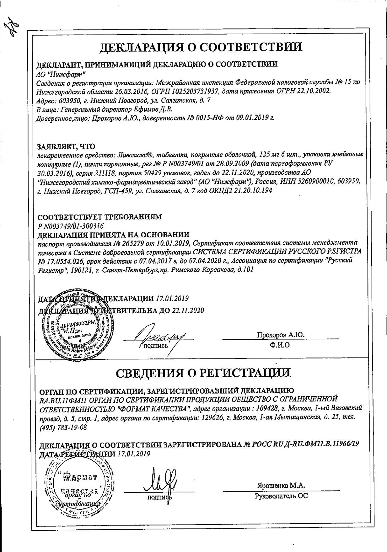 Лавомакс: инструкция по применению, аналоги и отзывы, цены в аптеках россии