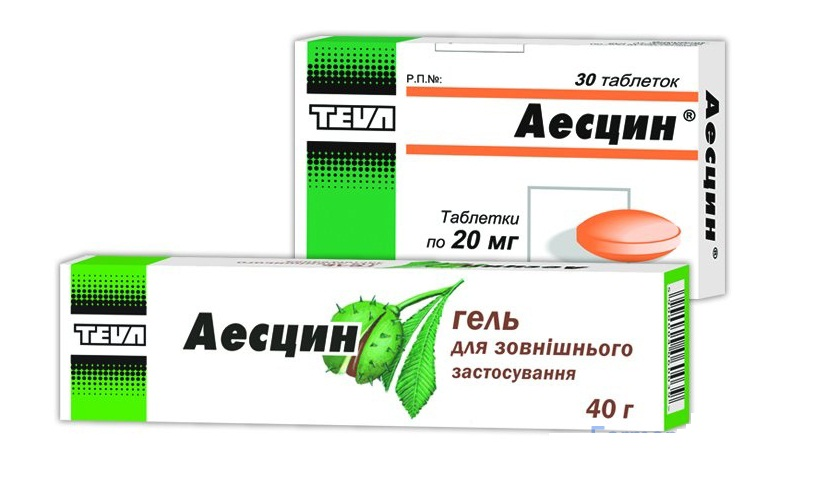 Аэсцин — таблетки и гель против венозных патологий