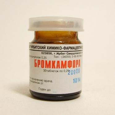 Таблетки бромкамфора: инструкция