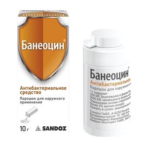 Банеоцин (baneocin) порошок. цена, инструкция по применению, аналоги