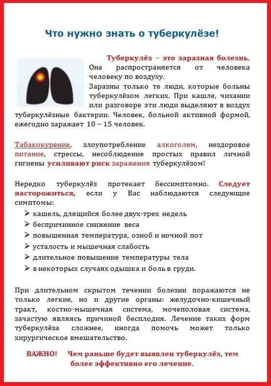Виды профилактики туберкулеза