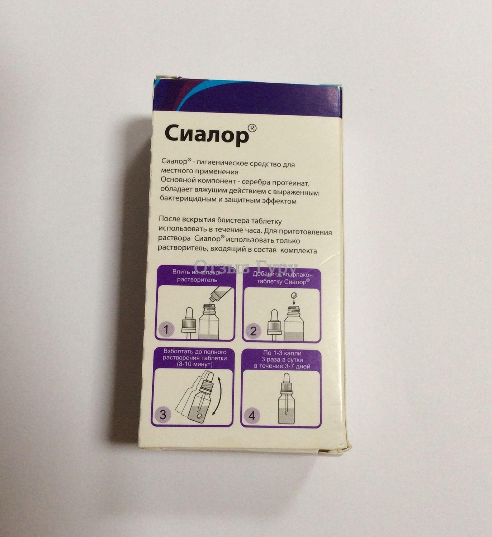 Инструкция по применению лекарственного препарата сиалор спрей