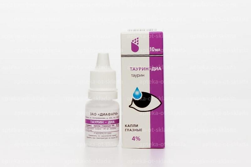 Глазные капли таурин-диа