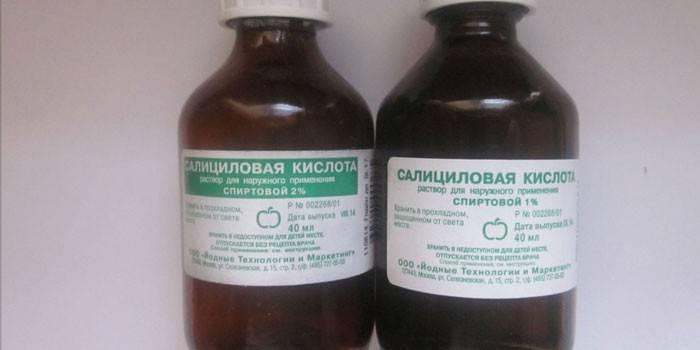 Салициловая кислота от прыщей. рецепты, инструкция по применению болтушки, мази, спиртового раствора