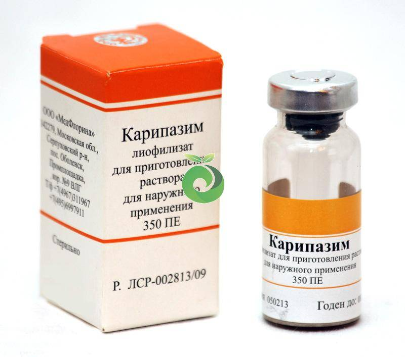 Карипазим (caripazim) для электрофореза. цена, инструкция по применению