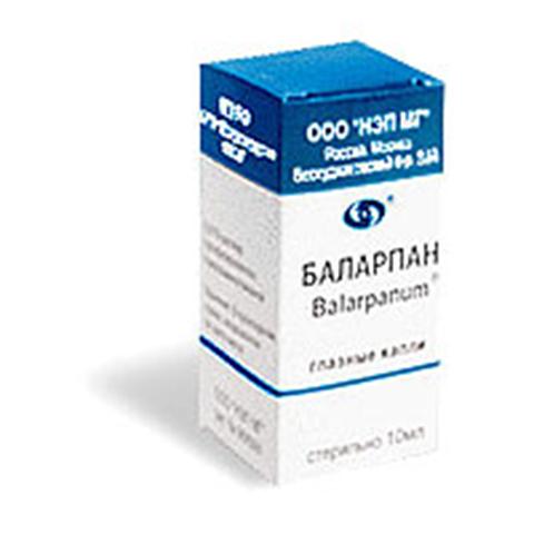Капли для глаз баларпан: применение и противопоказания
