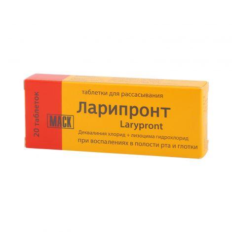 Таблетки для рассасывания ларипронт: инструкция по применению