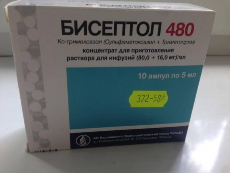Бисептол 480 мг - официальная инструкция по применению