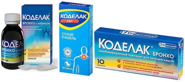 Препарат: коделак нео в аптеках москвы