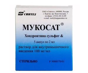 От чего помогают уколы хондроитин сульфат?