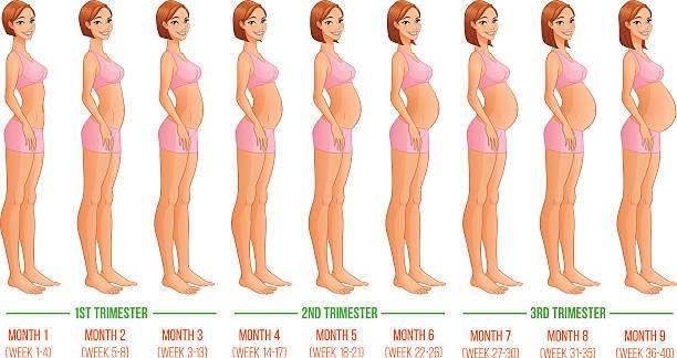 Женщина на 9 месяце беременности