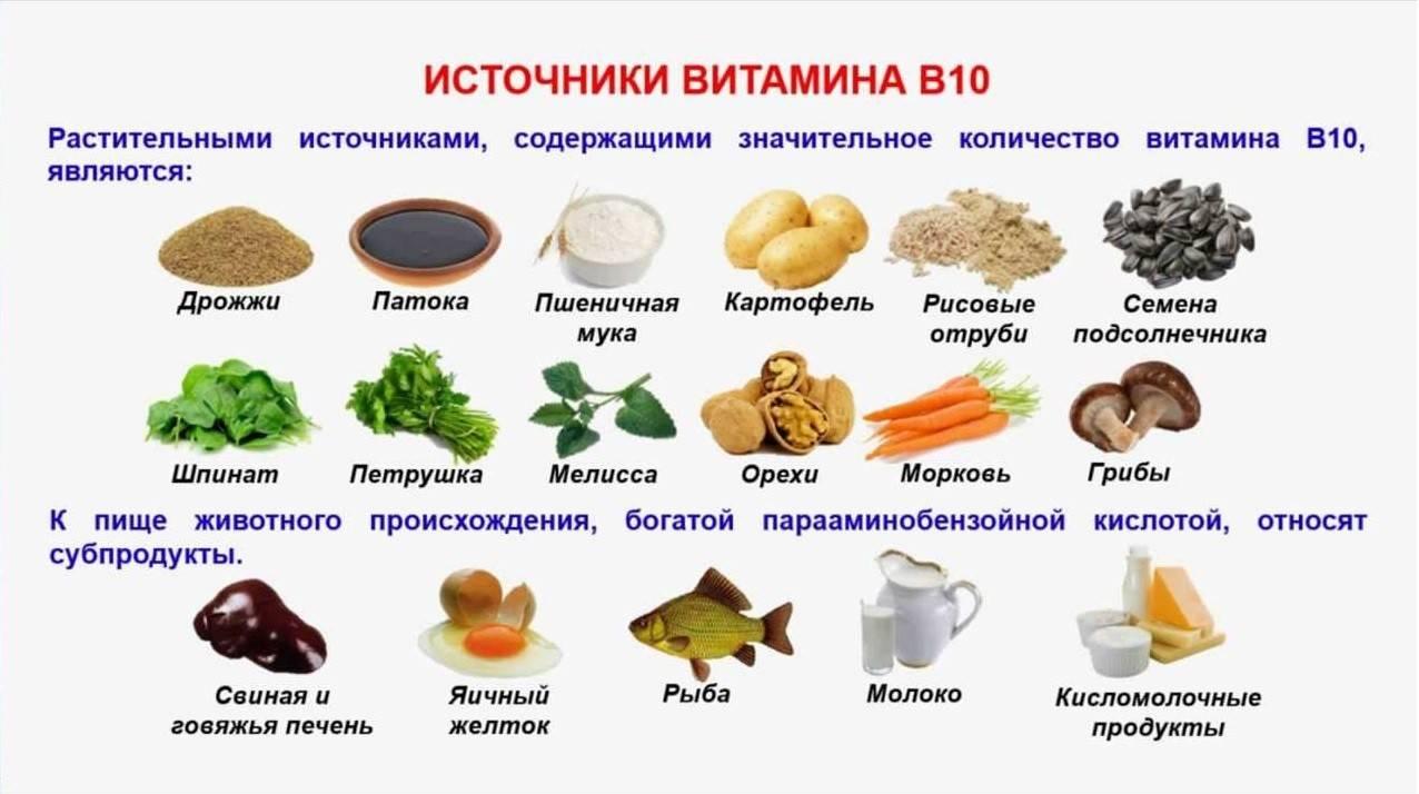 Витамин h1/в10, парааминобензойная кислота   food and health