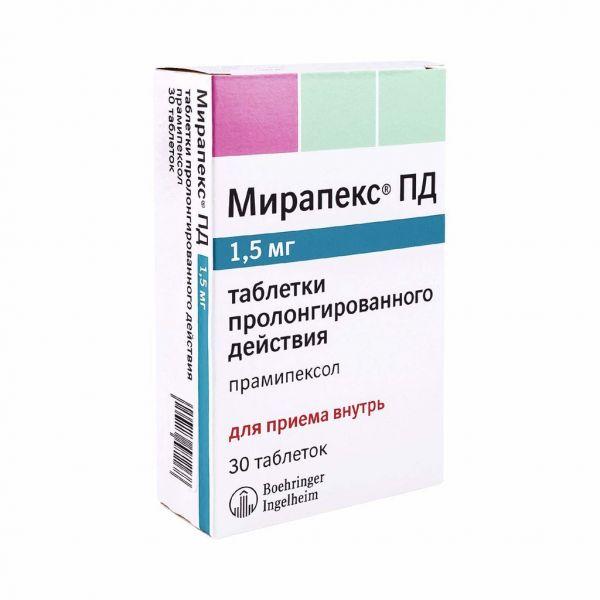 Препарат: мирапекс пд в аптеках москвы