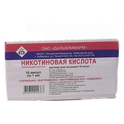 Все нюансы применения никотиновой кислоты в таблетках