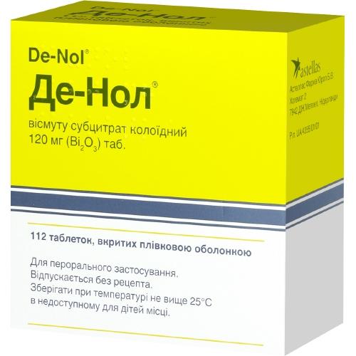 Недорогие аналоги препарата «де-нол» полный список