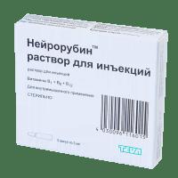 Снятие невралгии с уколами нейрорубином