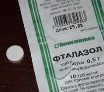Таблетки 500 мг фталазол: инструкция взрослым и детям, цена и отзывы