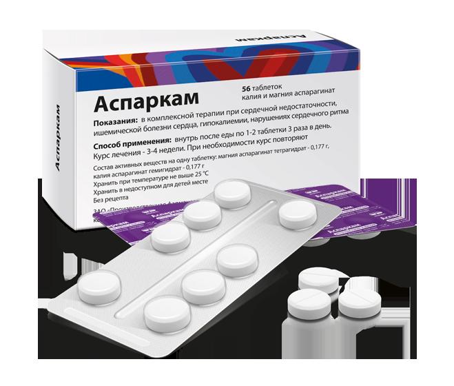 Аспаркам – состав, свойства, показания к применению и инструкция