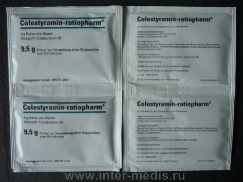 Холестирамин суспензия: инструкция по применению