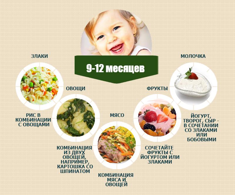 Уплетаем за обе щечки: рацион питания и примерное меню ребенка в 1 год на каждый день