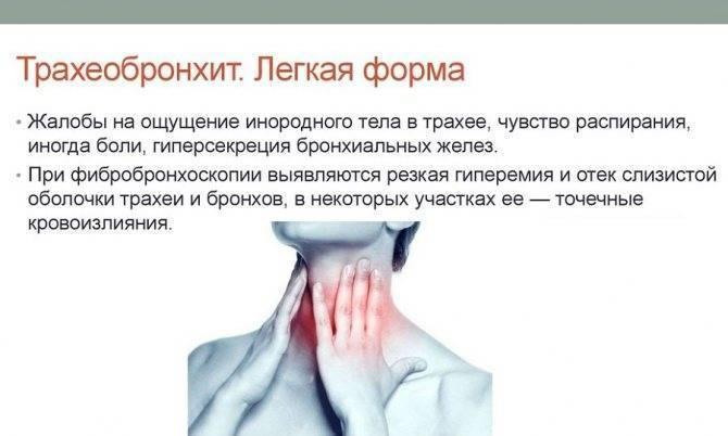 Симптомы лечение бронхита трахеита