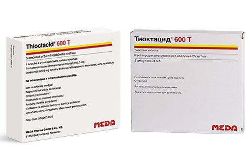Тиоктацид 600 таблетки – инструкция по применению, цена