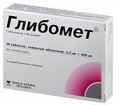 Препарат: глибомет в аптеках москвы