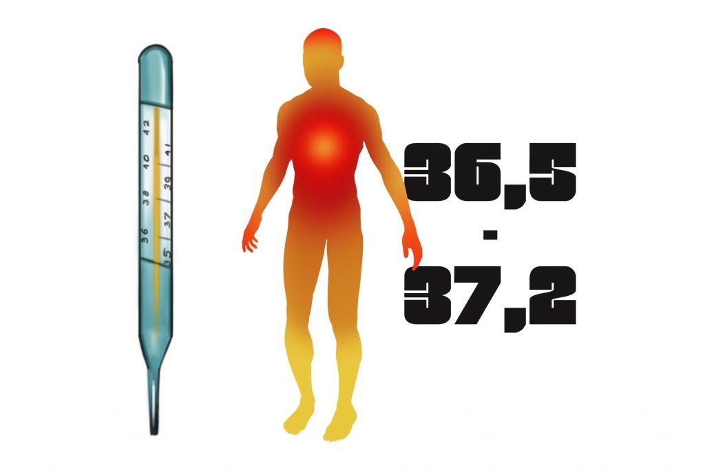 Повышенная и высокая температура тела: 37, 38, 39, 40°с