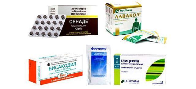 Слабительные средства быстрого действия для очищения кишечника: список препаратов