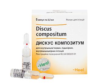 Лекарственный препарат дискус композитум - показания и инструкция по применению в уколах, аналоги и цена