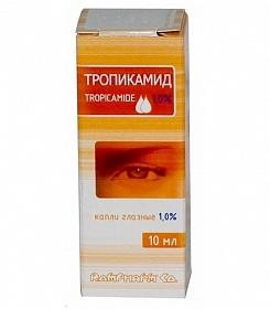 Глазные капли тропикамид
