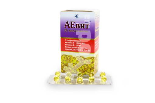 Витамины аевит - инструкция по применению: состав капсул, цена и отзывы