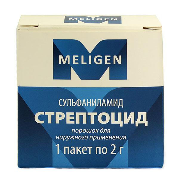 Стрептоцид: таблетки 300 мг и 500 мг, мазь 10% и порошок