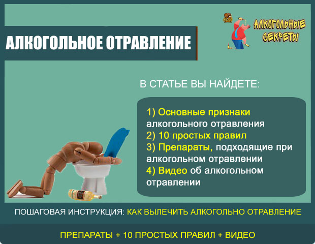 Что делать при алкогольном отравлении?
