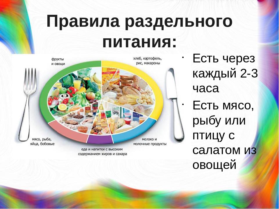 Меню Раздельное Питание Чтобы Похудеть. Раздельное питание для похудения: меню на неделю, рецепты