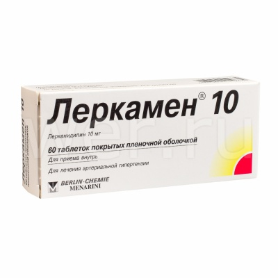 Таблетки 10 и 20 мг леркамен: инструкция, цена и отзывы
