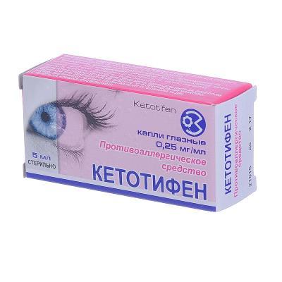 Кетотифен (ketotifen), инструкция по применению