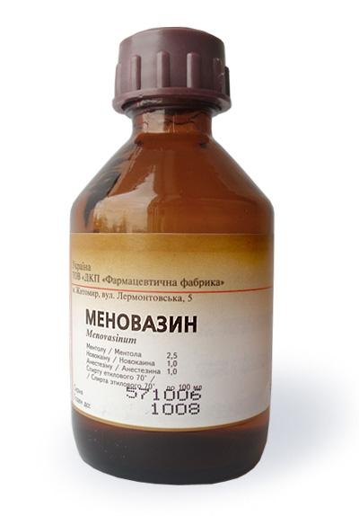 Мазь, раствор меновазин: инструкция, цена и отзывы