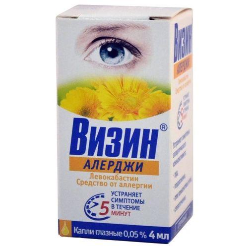 Применение глазных капель визин