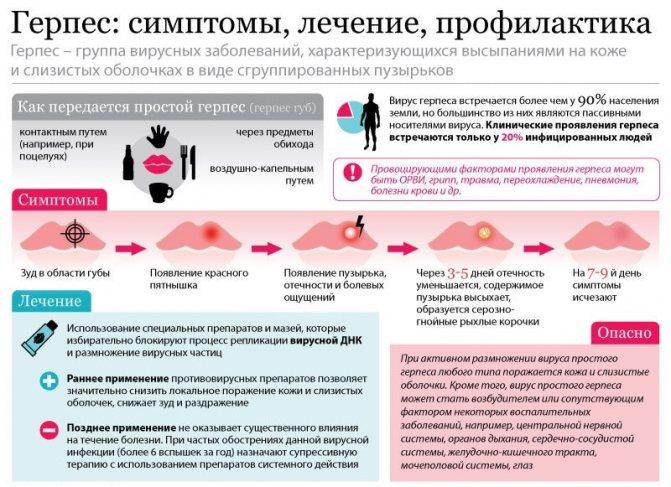Лечебная диета при герпесе на губах: таблица правильного питания