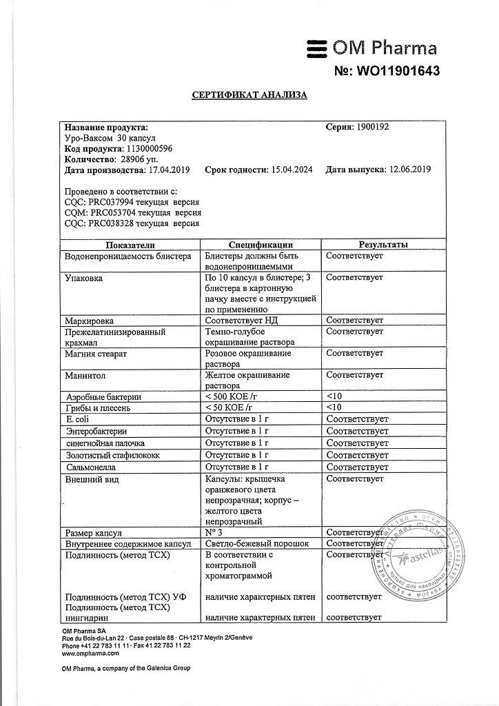 Иммуномодулятор уро-ваксом: инструкция по применению, цена, отзывы и аналоги