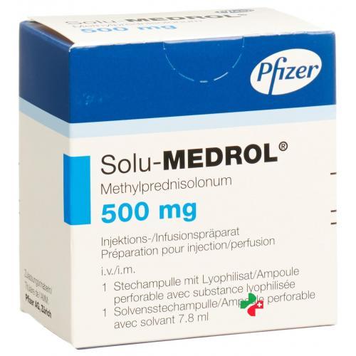 Раствор для инъекций солу-медрол (pfizer)