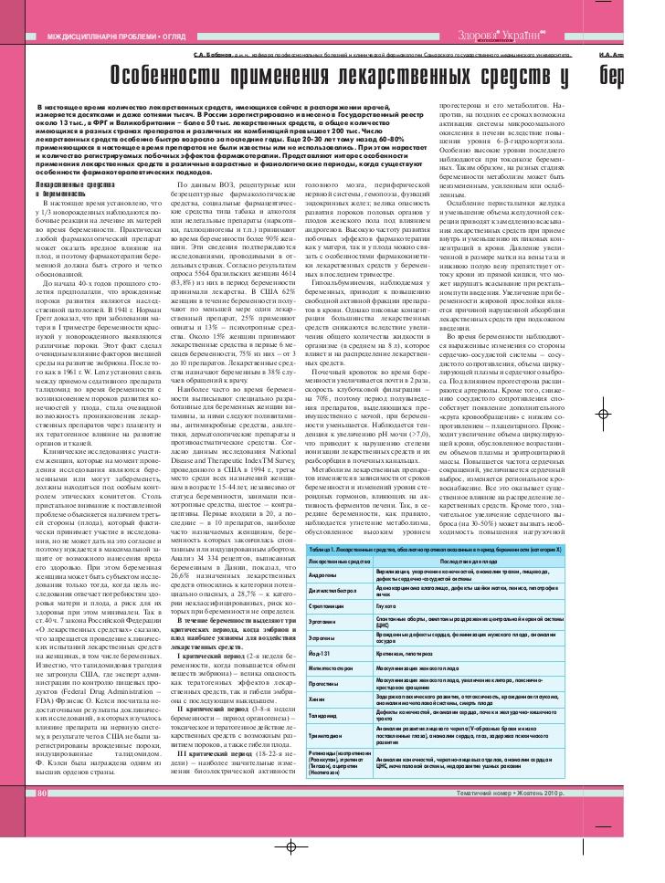 Метацин: применение при беременности