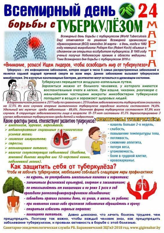 Меры профилактики туберкулеза у детей