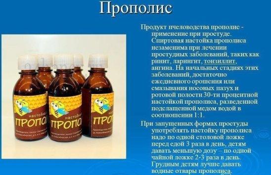 Лечение простуды медом и прополисом
