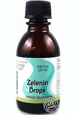 Отзывы о препарате зеленина капли